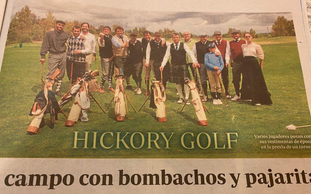 Hickory golf, al campo con bombachos y pajarita